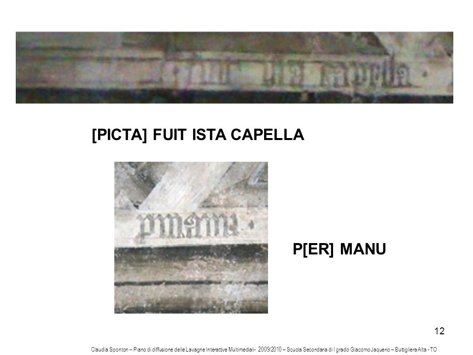 [PICTA] FUIT ISTA CAPELLA